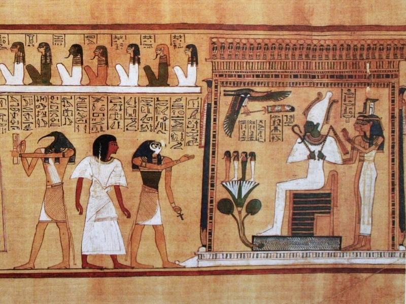 Judecata spiritului in fata lui Osiris