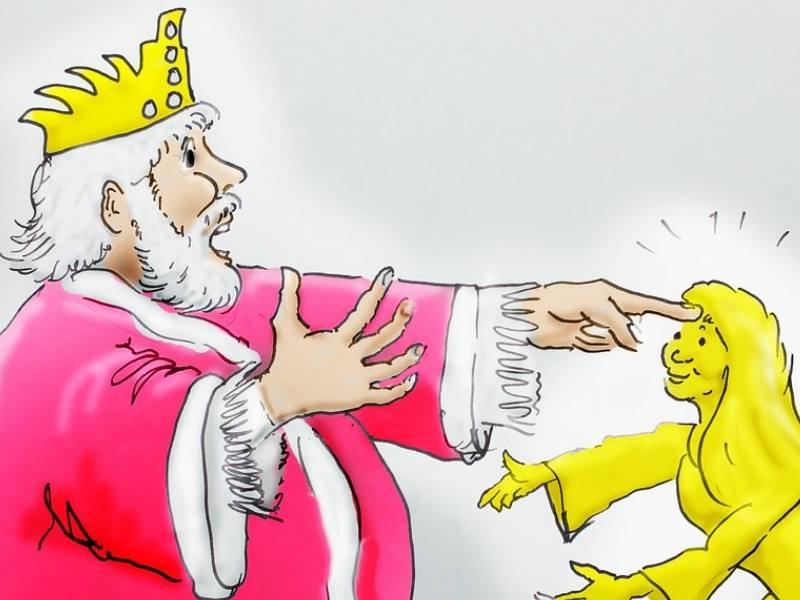 Pe orice punea mâna regele Midas, se transforma in aur